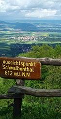 Aussichtspunkt Schwalbental 612 m ü. N.N.
